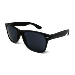 Image is loading MATTE-BLACK-Sunglasses-Mens-Ladies-Womens-Retro-Fashion- ab2ac58da