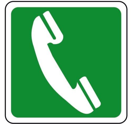 Cartello segnaletica indicazione telefono Emergency telephone sign 150x150mm