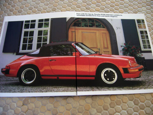PORSCHE 911 SC CABRIOLET PRESTIGE SHOWROOM SALES BROCHURE USA EDITION 1983