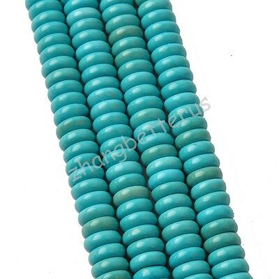 New 100% Natural Spacer Rondelle Turquoise Loose Beads Charms 6 8 10 12 14 16 mm