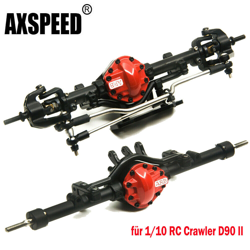 Metallo Asse Anteriore Asse Posteriore Asse per 1/10 RC Crawler d90 Gelande II ARB