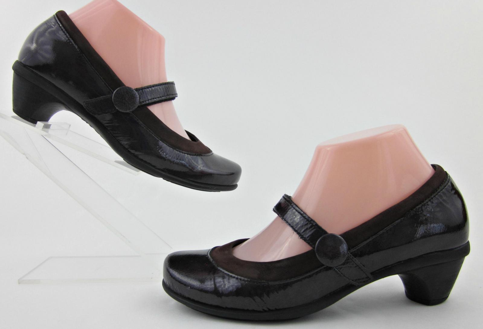 NAOT 'Trendy' Mary Jane Heels Peacock Patent Leather EU 37   US 6 Fantastic