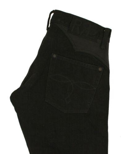 Ralph Lauren RRL Black Western Leather Denim Jeans New $990