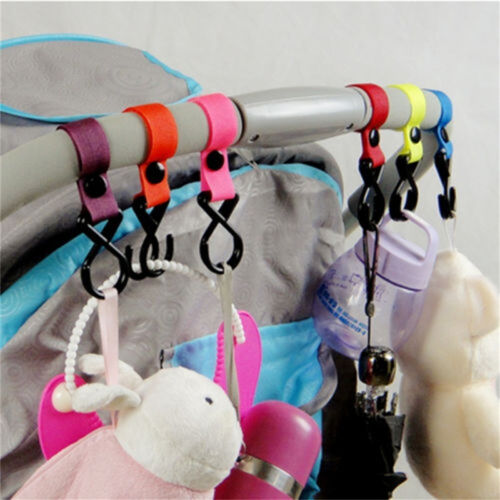 Pushchair Pram Buggy Stroller Shopping Bag Baby Handle  Clip Strap Hook WB