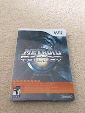 No Disk - Metroid Prime Trilogy Nintendo Wii 2013 Steel Box Edition Wii U