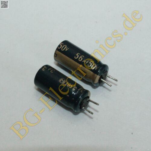 2 x 56µF 56uF 50V 105°C RM2.5 Elko Kondensator Capacitor Radi Matsushit  2pcs