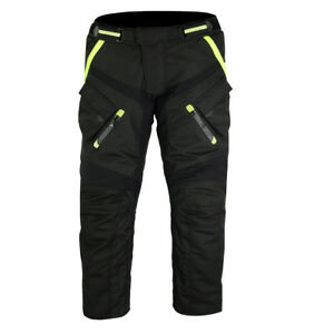 Motorrad-Hose-Schwarz-Neon-gelb-Motorradhose-S-5XL-Herren-Motorrad-Hose
