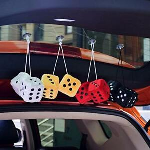 5pair Rear View Mirror Styling Fuzzy Dice Dots Hanger Interior Decor Car Pendant