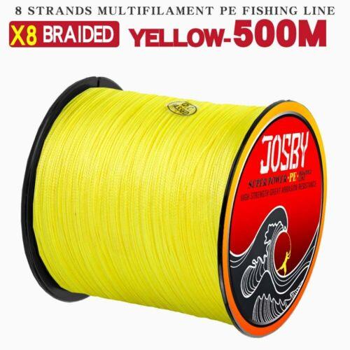 JOSBY 300M 500M 1000M 8 brins 10-78LB nouveau PE tressé fil de pêche