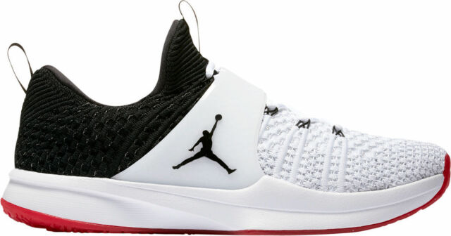 5928e98c1cdd AUTHENTIC NIKE Air Jordan Trainer 2 Flyknit White Blk Gym Red 921210 101 Men  sz