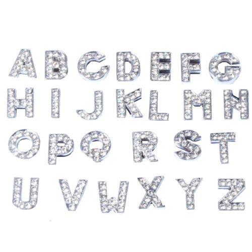 """Strass Buchstaben /""""A-Z/"""" Slider Schiebebuchstaben Buchstabenarmband"""