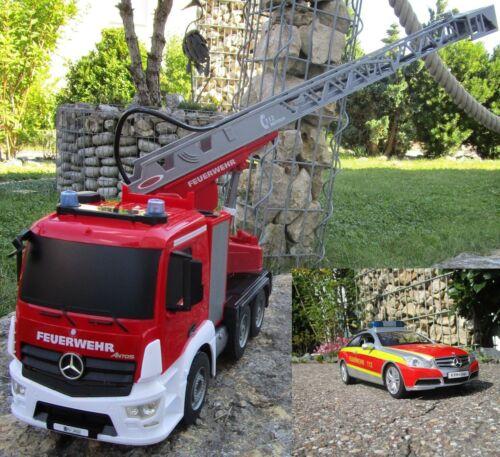 Auto 2,4 GHz 1:20 Sprirtzfunktion Top 404960/7 RC Feuerwehr Mercedes 2 er Set Elektrisches Spielzeug