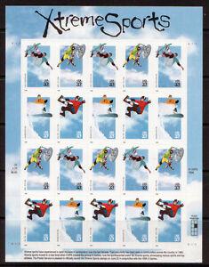 Estados Unidos 1999 Xtreme SPORTS Pliego Nuevo sin Montar, MNH
