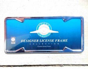 Chrome-1929-39-Designer-California-License-Frame-Straight-Corner-Street-Rod
