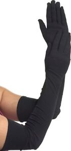 Flora-Black-Lycra-Extra-Long-Bridal-Prom-Theatre-Spandex-Gloves-22-034-L