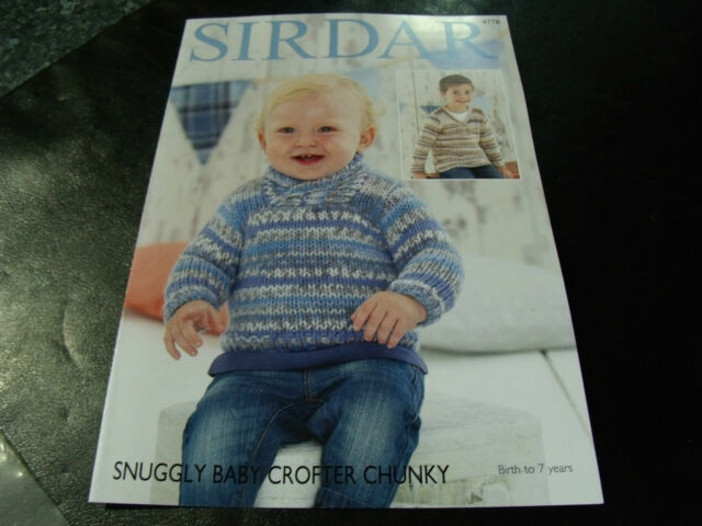 3902ab2602cb Sirdar Snuggly Baby Crofter Chunky Pattern 4778 Birth to 7 Years for ...