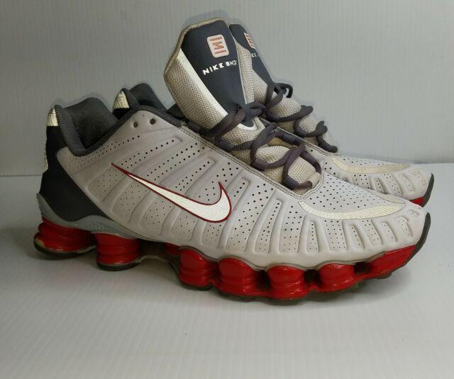 Nike Shox TLX Men's Shoes White / Metallic Platinum-Cool Grey 488313-116 Size 13
