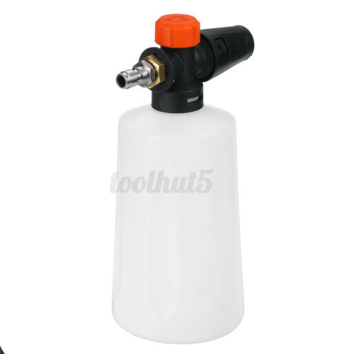 "1//4/"" 1.5L Foam Washer Gun Car Wash Soap Lance Cannon Spray Pressure Jet Bottle"