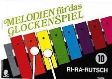 Glockenspiel Noten : Melodien für das Glockenspiel 10  - RI-RA-RUTSCH -  LEICHT