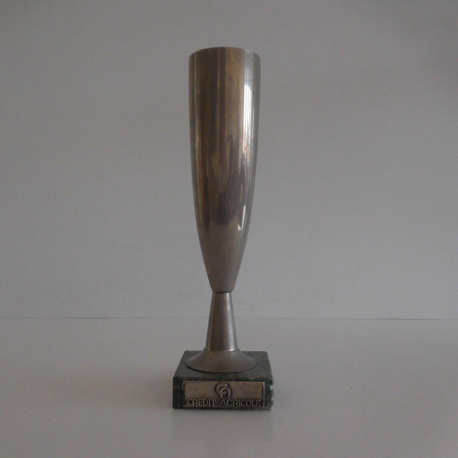 Coupe trophée Crédit Agricole vintage design XXe