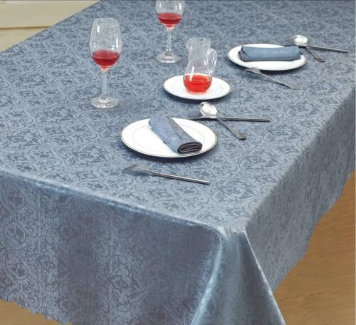 Damask Rectangle /& Round Table Cloth Covers Jacquard Floral Tableware Napkins UK