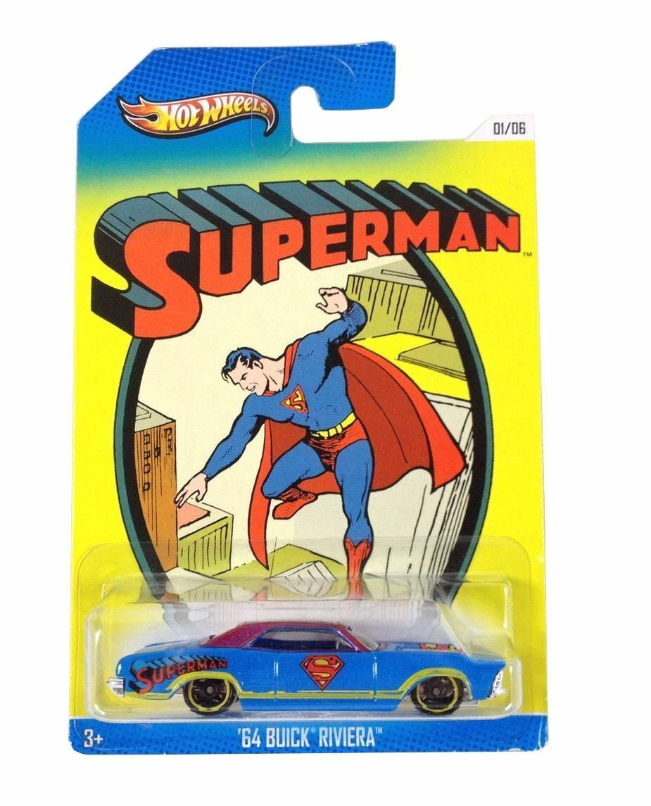 Hot Hot Hot Wheels Superman Sonderotition 6 Auto Set - BBX86 1 64 - Modelauto 1983b2