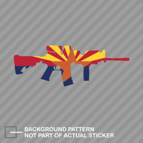 Arizona State Shape AR15 Sticker Decal Vinyl AR-15 M16 M-16 AZ