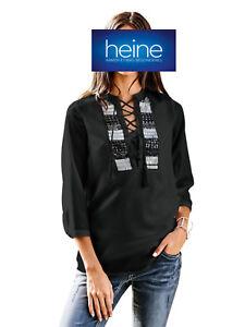Gr 34 B.C Schwarz Heine NEU!! KP 39,90 € SALE/%/%/% Long-Bluse