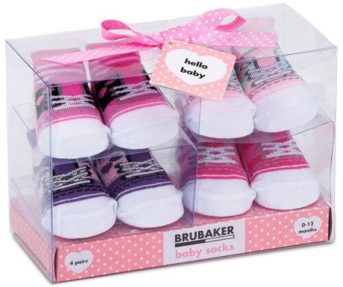 BRUBAKER Baby Socken Jungen Mädchen 0-12 Mon Geschenk Geburt Taufe Weihnachten