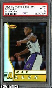1996-Bowman-039-s-Best-Rookie-Refractor-Ray-Allen-RC-PSA-9-MINT-CENTERED