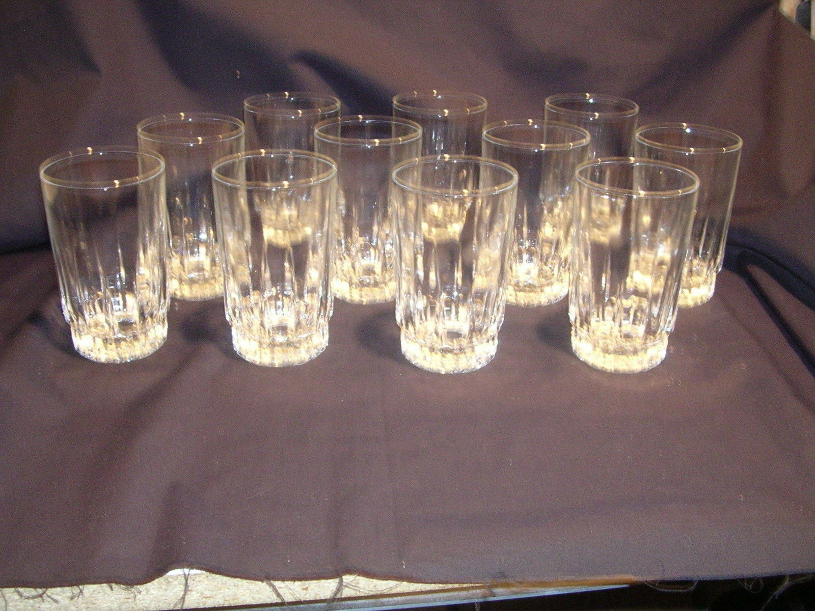 VTG Double Old Fashioned Drinking Glasses Mixing   Mixers Set of 12