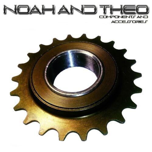"N/&T 22T 34mm 1//2/"" x 1//8/"" Brown BMX Freewheel Bicycle Single Speed Cog Sprocket"