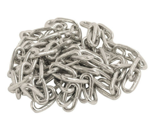 Strong BZP Link Chain 2 Metre Lengths Various Link Sizes 2 mm 8 mm Galv Chain