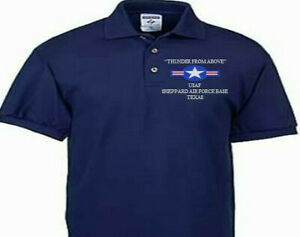 SHEPPARD AIR FORCE BASE TEXAS USAF EMBROIDERED POLO SHIRT/SWEAT/JACKET.