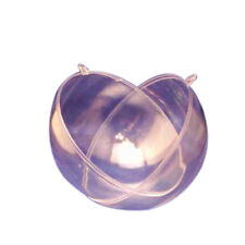 """2 Clear Plastic Ball fillable Ornament favor 4.5"""" 120mm"""