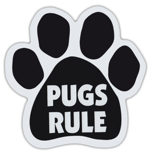 Trucks Dog Paw Shaped Magnets: PUGS RULEDogs Gifts Cars