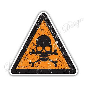 Radioactive Danger Warning sign Car Bumper Vinyl Sticker Window Car Bumper #025
