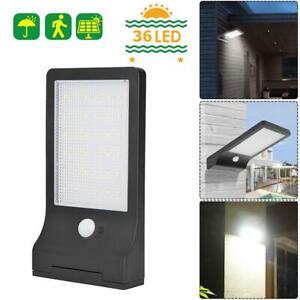 36-DEL-Solar-Power-Motion-Sensor-Jardin-Securite-Lampe-d-039-exterieur-etanche-lumiere