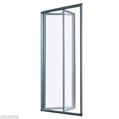 Box doccia nicchia 70 68/72 porta a Libro soffietto cristallo 5 mm trasparente