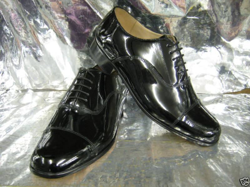 Men Grenson Paddington Black Patent Leather Dress Shoes