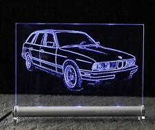 BMW E34 TOURING LED Leuchtschild   5er kombi Autogravur