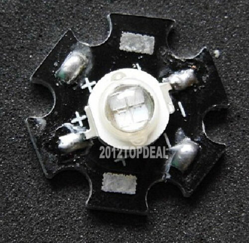 10pcs 5 W ultra violet UV High Power DEL 395-405 Presque comme neuf avec 20 mm Star PCB F Aquarium