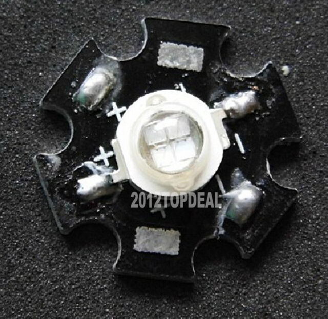 10pcs 5W 4pin Bue high Power LED 460-465nm with 20mm Star Base
