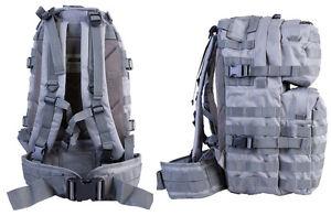British Army SAS Tactical US Combat Rucksack Day Pack Bergen Molle Grey 40L Bag