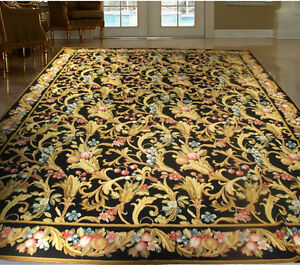 Image Is Loading Traditional Victorian Style Rug 9x12 Needlepoint