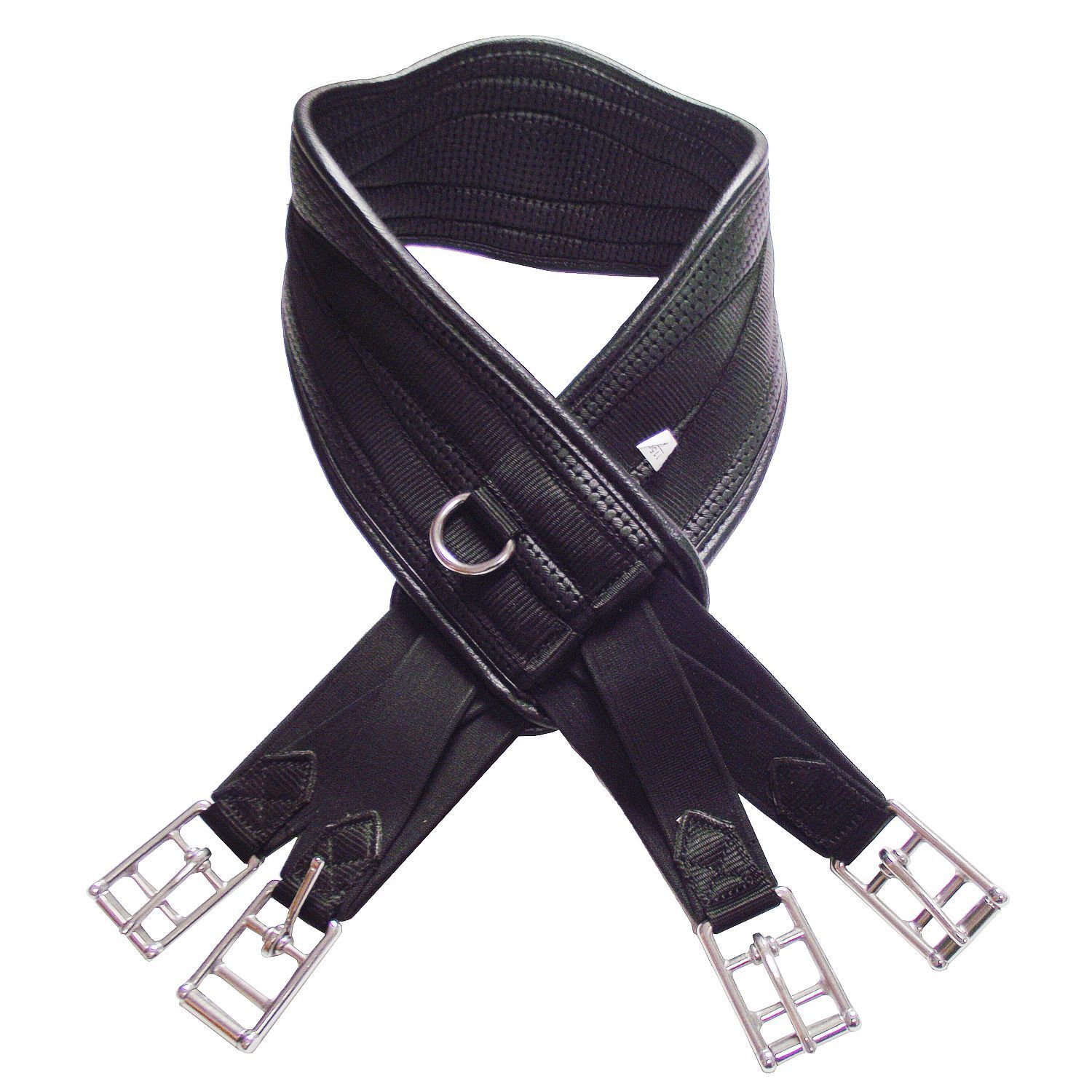 Harry Dabbs Platinum  Curved Waffle Girth. With elastic at both ends. All sizes