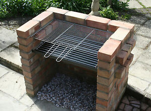 Details About Diy Brick Charcoal Bbq Barbecue Thick Grate Stainless Steel Grill Seconds