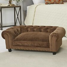 Enchanted Home Pet Ultra Plush Melbourne Tufted Dog Sofa with Cushion
