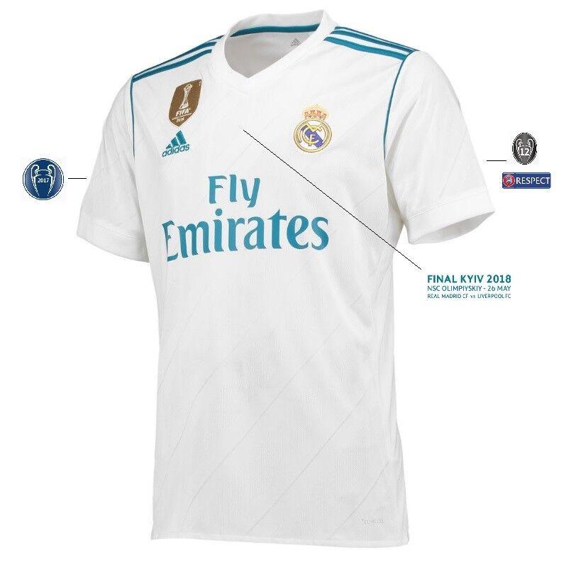 Trikot Real Madrid Home Champions League 2018 Finale Kyiv 2018 League - Casemiro 14 / Kiev daf4c7