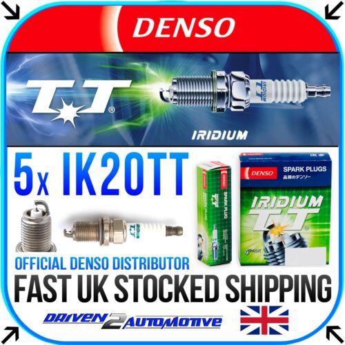 LS 5x DENSO IK20TT IRIDIUM TT SPARK PLUGS FOR VOLVO S70 2.5 Bifuel 10.98-11.00